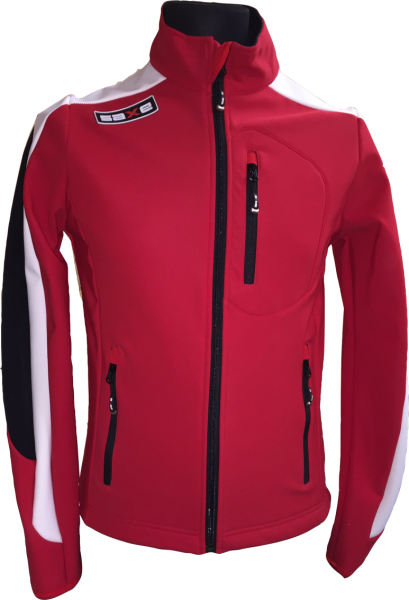 SAXE Softshell Jacket Junior red/white