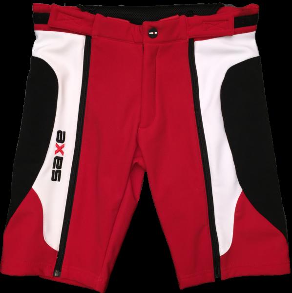 SAXE Softshell Short Erwachsene red/white