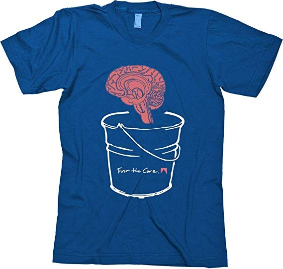 SHRED T-Shirt Brain Bucket navyblue